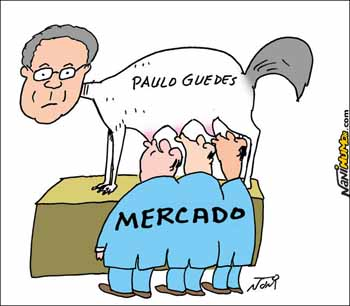 Charge Nani - Paulo Guedes e o Brasil