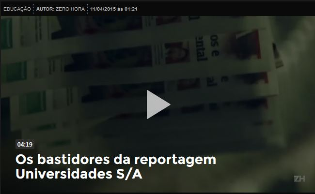 Zero Hora - 12/04/15 - VÍDEO: Universidade S/A